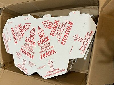 50 Pack Pallet Cones Redwhite Corrugate Nostack 45gy12 Spanish English Shpsfree