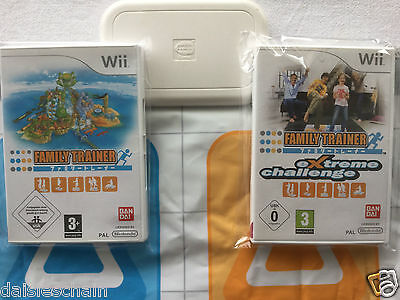 Nintendo Wii Fit Game - FAMILY TRAINER + EXTREME CHALLENGE + Activity Dance MAT