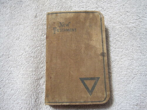 Antique WW1 New Testament Bible Named With Inscription