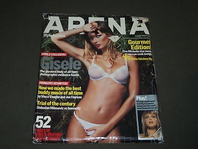 2004 OCTOBER ARENA MAGAZINE GOURMET EDITION - GISELE BUNDCHEN COVER - O 10772 Gourmet Magazine Covers