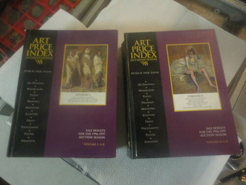 1998 Art Price Index Sales Results for 1996/97 Auction Season 2 Volumes A-K, L-Z