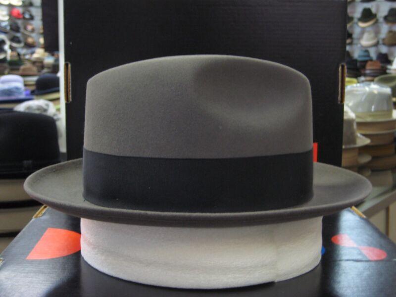 DOBBS DAYTON BURGUNDY FUR FELT FEDORA DRESS HAT