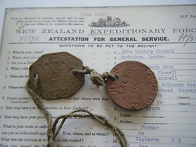 New Zealand 22 Rifles Dog Tag w/ History