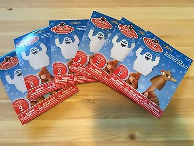 - Lot of 6 Rudolph the Red-Nosed Reindeer Felt Finger Puppet Kid's Craft Kits