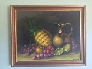 Still Life 'Fruit' by Park Wong - Framed Original Oil Painting Coolangatta Gold Coast South Preview