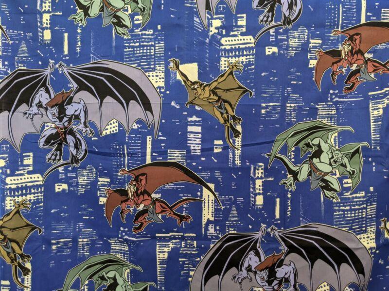 Vintage Disney Gargoyles Flat Sheet Glow In The Dark