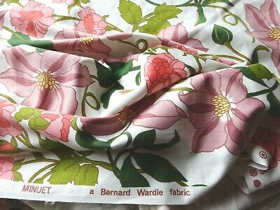 Vintage 1960s Bernard Wardle Cotton Interiors Fabric 'Minuet' per Yard x 48