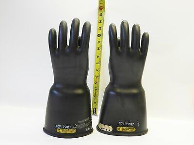 Salisbury D120 Class 2 Type I 17000v Ac Size 10 Lineman Gloves 111717 Black Cu