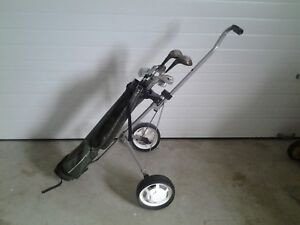 Starter Set Left Hand Golf Clubs Plus Bag & Cart $40