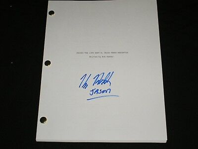 KANE HODDER Signed Friday the 13th Jason takes Manhattan Part 8 Full