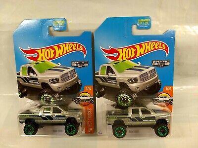 Hot Wheels - Zamac - Lot of 2 - Dodge Ram 1500 - HW Hot Trucks 1/10 2017 009