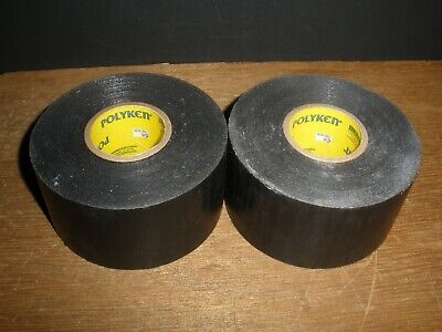 Polyken 2 X 100 Fire Retardant Sealing Duct Tape Black 268fr Usa Qty.2