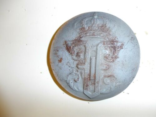 0321 WW 1 Romanian Helmet Plate French Adrian France Helmet GD4