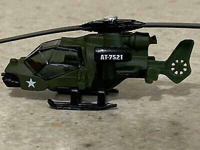 Matchbox Green Military Mission Helicopter - Loose