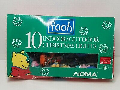 Noma Pooh 10 Indoor Outdoor Christmas Lights Blow Mold Piglet Tigger Winnie