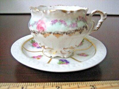 "1920's Rosenthal China Demitasse Cup and Saucer ~ Sel B Bavaria  Pattern ""Maria"""