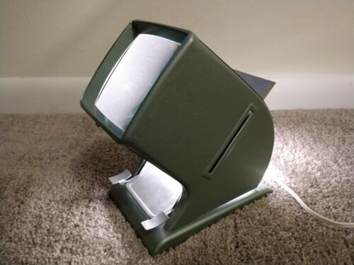 Vintage Light Green Metal Kaiser? Slide Viewer Made in Western Germany - WORKS!