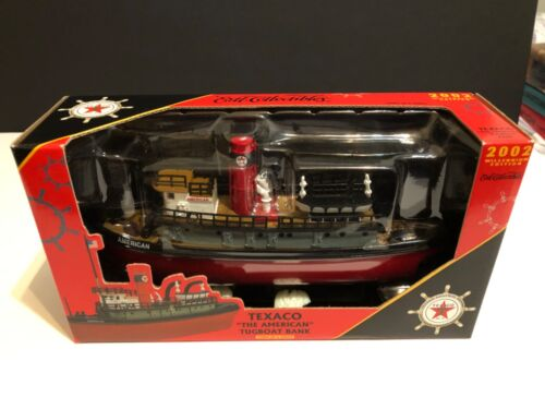 2002 Ertl Diecast Texaco The American Tugboat Bank 3rd In A Series Boat New A16
