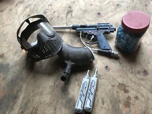 Paint ball gun and mask for sale