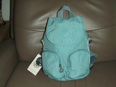 KIPLING Firefly Up backpack Aqua Frost New With Tags
