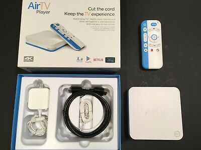AirTV Player UIW4010ECH 4K Streaming Media Player White/Blue Great Condition!
