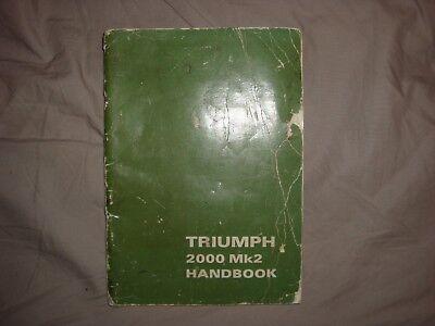 Triumph 2000 mk2 handbook 6th edition