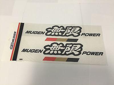 MUGEN POWER DECAL LARGE BLACK