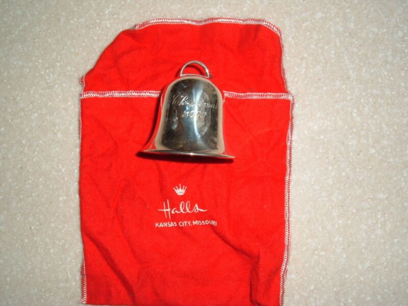 Sterling Silver Hallmark Christmas Bell-Many years to choose fromk