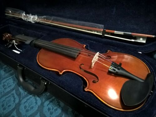 Upgraded! Ideal model #E 1/2 Intermediate outfit Student Violin Spruce Maple