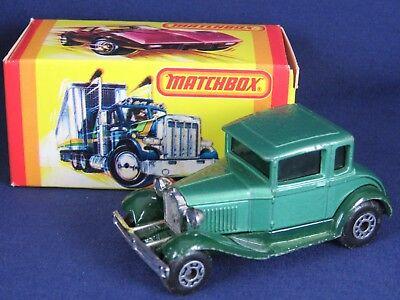Lesney Matchbox Superfast Vintage 1979 #73 Model A Ford w/Orig. Box