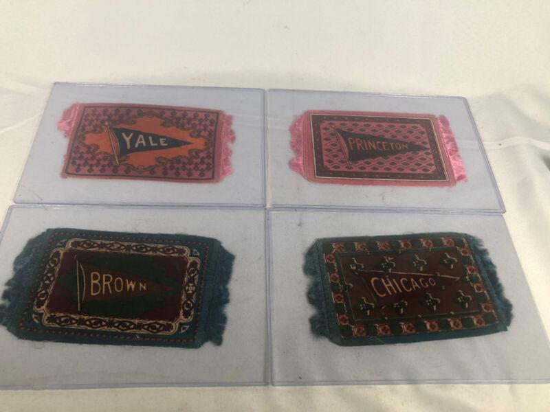 (4) Early LUXURY Cigarettes Tobacco Silks UNIVERSITY SCHOOLS Yale, Brown