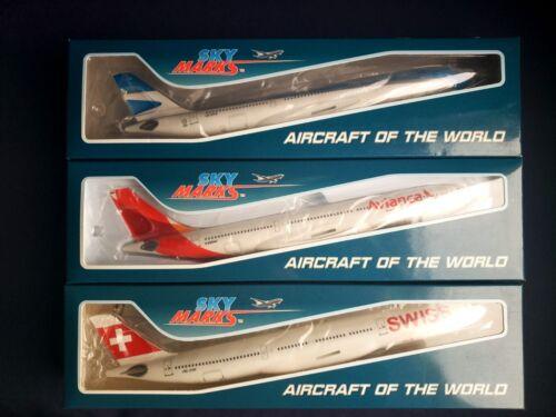 1:200 Risesoon Skymarks Aerolineas Argentinas A340-200, Avianca & Swiss A330