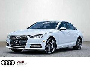 2017 Audi A4 2.0T Technik|One Owner|Navi|Roof|Leather