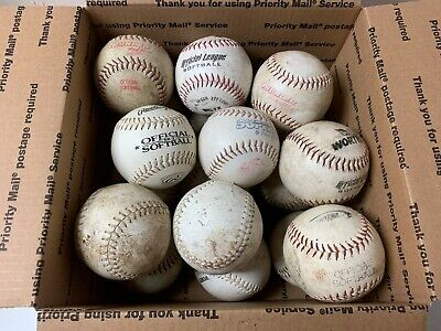 18 USED Softballs Mixed Lot of 12