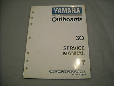 Yamaha Outboard Service Manual 3Q LIT-18616-00-67 NEW