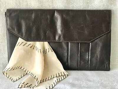 1930s Handbags and Purses Fashion Antique 1930s - 1940s Vintage Leather Clutch Bag 33cm / 13 in $48.26 AT vintagedancer.com