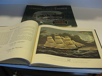 Currier and Ives America Art Book With 80 Choice Prints in Full Color 1952 Rare