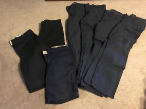4 pairs of Boys uniform pants & 3 pairs of shorts