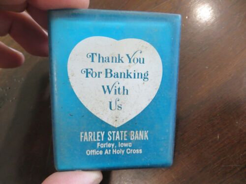 Farley State Bank,Farley Iowa,office of Holy Cross,advertising mirror case