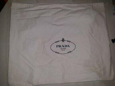 AUTHENTIC PRADA DRAWSTRING DUST BAGS - SHOE - PURSE BAG COVER NEW