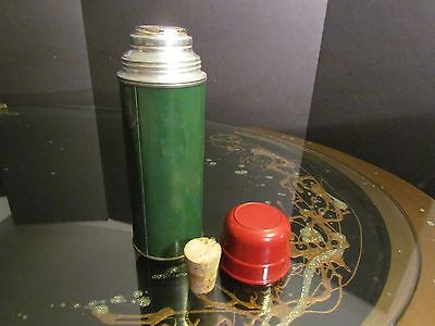 Vintage Green Metal Thermos Aladdin