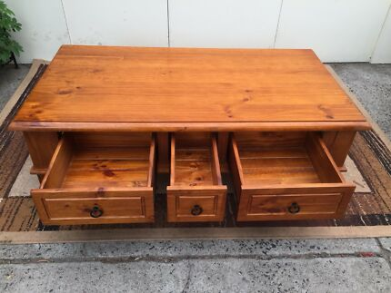 High quality wooden coffee table with drawers free delivery