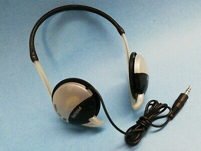 PHILIPS SBC HS383 Behind-the-Head Wired Headphones w/ Neckband - NEAR MINT!