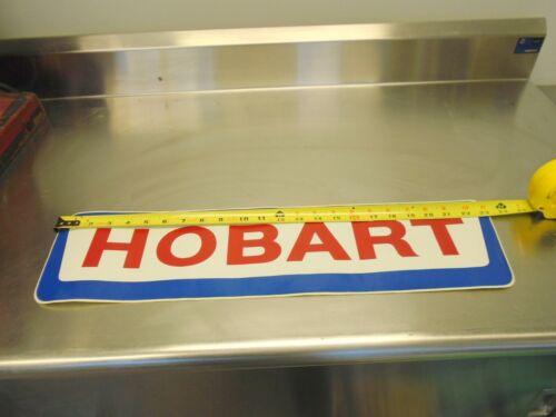 """Vintage Hobart food equipment decal very large, 3M vinal  26 3/8"""" X 6"""""""