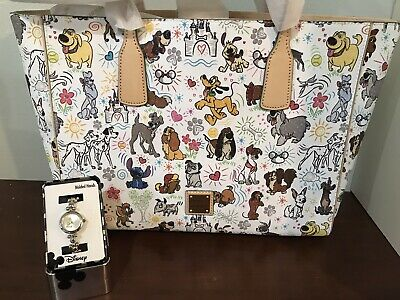 Disney Dooney & Burke Dog Sketch Tote Bag BNWT - SOLD OUT ONLINE w/ FREE WATCH