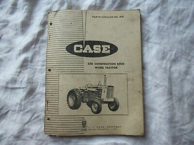 1963 Case 530 Construction King Wheel Tractor Parts Catalog Manual Book