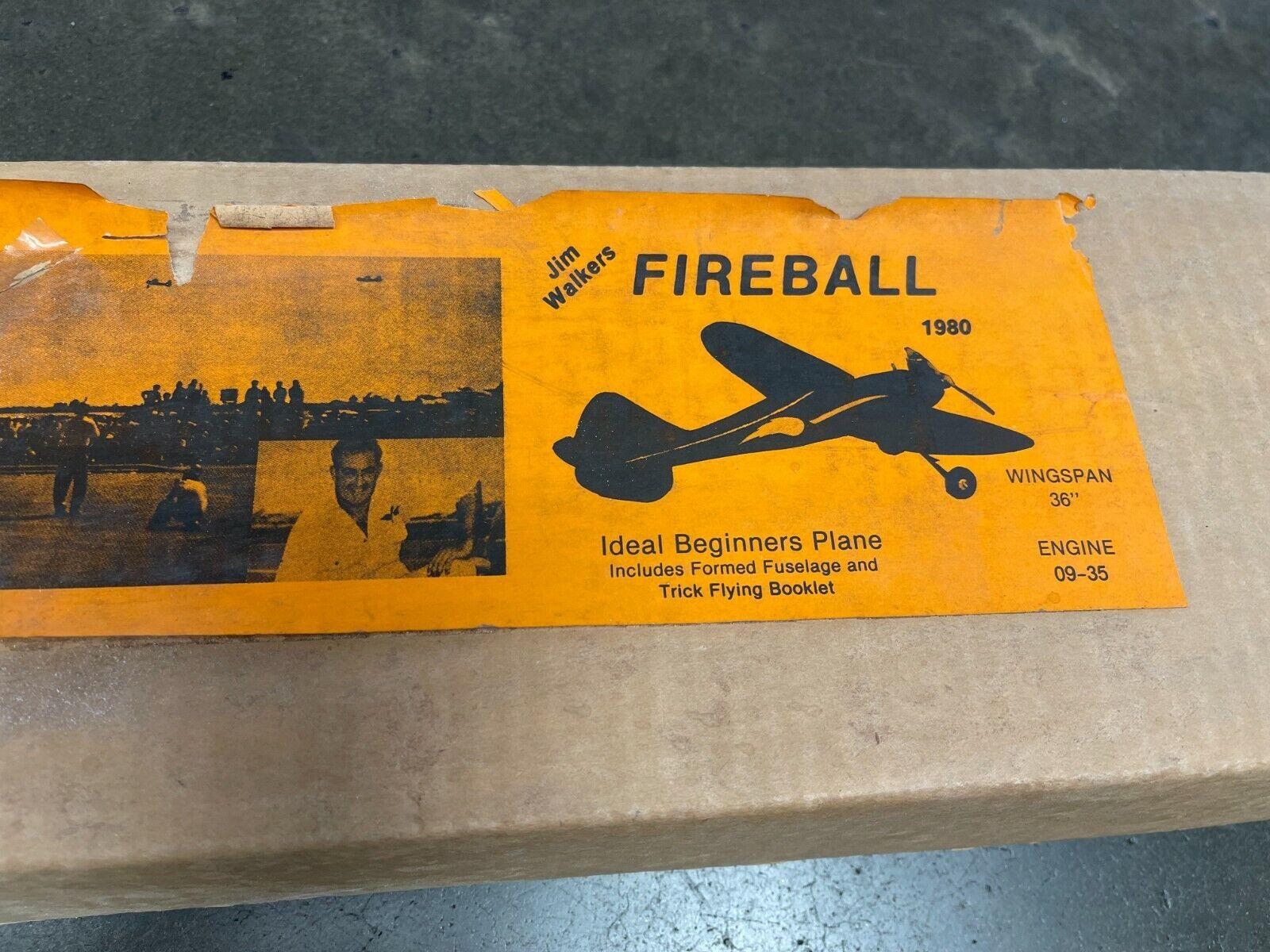 Jim Walkers's The FIREBALL 1980 Control Line Model Airplane kit