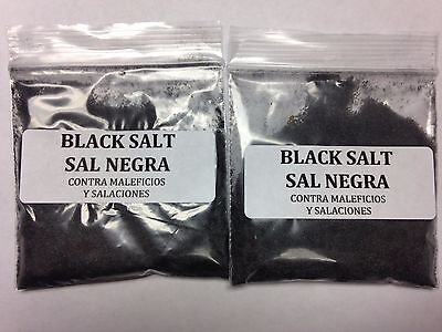 BLACK SALT AGAINST NEGATIVITY SET OF 2 (SAL NEGRA - CONTRA MALEFICIOS Y SALAC.)