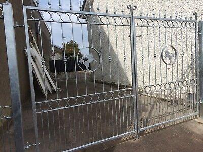 Wrought Iron driveway gates (02)
