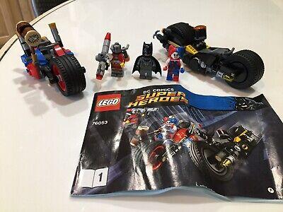 Lego DC Super Heroes 76053 Batman Gotham City Cycle Chase Used Harley Quinn